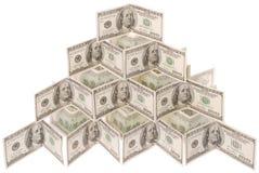 доллар сделал пирамидку Стоковое Фото