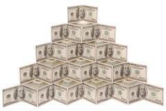 доллар сделал пирамидку Стоковые Фотографии RF