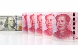 доллар renminbi Стоковая Фотография RF