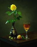 Ода к желтому Розе Стоковое Фото