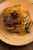 Оладь оладьи тыквы с циннамоном Стоковое Фото