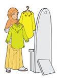 одевает девушку Стоковая Фотография