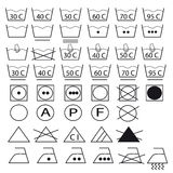 одевает мыть символов собрания Стоковые Фотографии RF