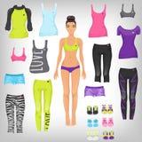 Одевайте sporty бумажную куклу Стоковые Изображения RF