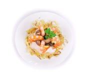 одевающ салат громоздк осветите томат кабелей шримса салата Стоковая Фотография