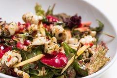 одевающ салат громоздк осветите томат кабелей шримса салата Стоковые Изображения RF