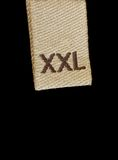 одевая xxl размера макроса ярлыка Стоковое Фото