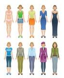 Одежда женщин иллюстрация штока