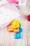 Одежда и аксессуары для младенцев, Стоковая Фотография RF