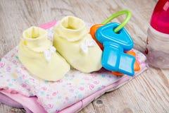 Одежда и аксессуары для младенцев, Стоковая Фотография
