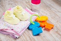 Одежда и аксессуары для младенцев, Стоковое Изображение RF