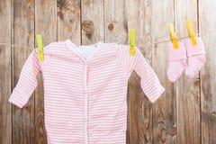 Одежда младенца Стоковое фото RF