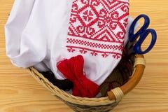 Одежда с вышивкой стоковое изображение rf