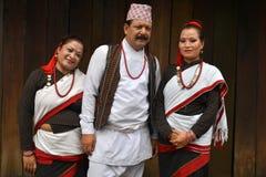 Одежда Newar традиционная Стоковое Изображение