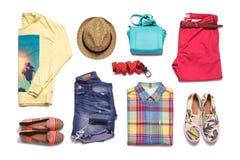 Одежды лета собрания Стоковое Изображение