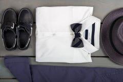 Одежды моды детей, обмундирование людей Стоковое Изображение RF