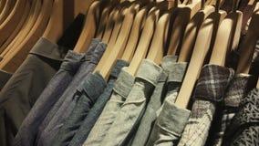 Одежды на вешалке Стоковые Изображения RF