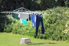 Одежды на линии Стоковая Фотография RF