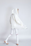 Одежды цвета носки женщины спорта белые для бега йоги фитнеса Стоковые Фото