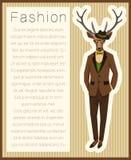 Олени одеванные модой бесплатная иллюстрация