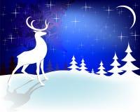 Олени рождества дизайна с луной Стоковые Изображения RF