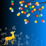 Олени рождества иллюстрация вектора