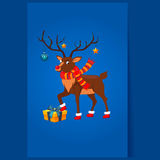 Олени с гирляндой рождества Стоковые Фото