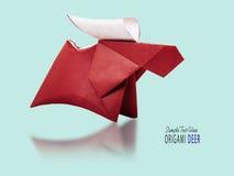Олени Origami бумажные коричневые стоковое изображение rf