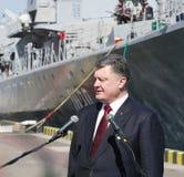 Одесса, Украина - 10-ое апреля 2015: Президент Украины Petro Стоковая Фотография RF