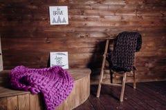 Одеяла сделанные из толстой пряжи Стоковые Фотографии RF
