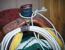 Одеяло седловины, Lariat и седловина Стоковые Изображения