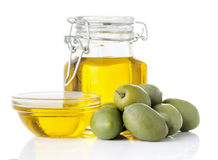 оливка масла бутылочного стекла Стоковые Фото