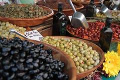 Оливки и масло - рынок Франция Провансали Стоковая Фотография RF