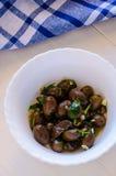 Оливки и оливковая ветка Стоковая Фотография