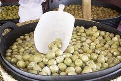 Оливки и сыр Стоковые Изображения