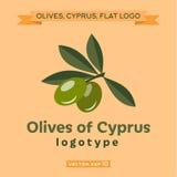 Оливки логотипа Кипра Стоковое фото RF