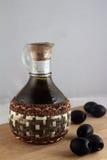 оливки оливки масла бутылки Стоковые Изображения