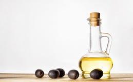 оливки оливки масла бутылки Стоковое Изображение
