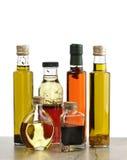 Оливковое масло, заправка для салата и уксус Стоковые Фотографии RF