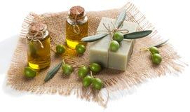 Оливковое масло и мыло для КУРОРТА Стоковые Фотографии RF