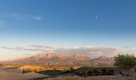 Оливковые дерева достигая к горизонту в Андалусии Стоковое Изображение RF