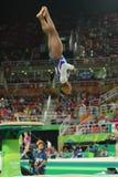 Олимпийские желчи Simone чемпиона Соединенных Штатов состязаясь свод на ` s женщин все-вокруг гимнастики на Рио 2016 Олимпийских  Стоковые Фотографии RF