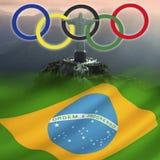 Олимпийские Игры 2016 - Рио-де-Жанейро - Бразилий Стоковое Фото