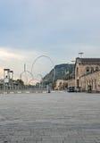 Олимпийские кольца в Барселоне Испании Стоковые Изображения