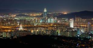 Олимпийские мост и Река Han Стоковые Фото