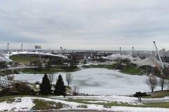 Олимпийский парк 1972 в Мюнхене Стоковые Изображения RF