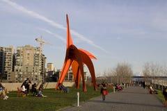 Олимпийский парк seattle скульптуры Стоковое Изображение