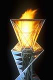 Олимпийский факел на ноче во время 2002 Олимпиад зимы, Солт-Лейк-Сити, UT Стоковая Фотография