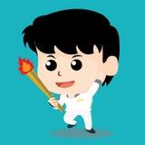 Олимпийский характер Стоковое Фото
