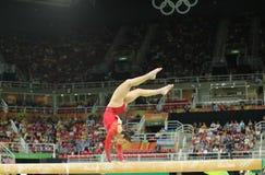 Олимпийский чемпион Aly Raisman Соединенных Штатов состязается на коромысле на ` s женщин все-вокруг гимнастики на Рио 2016 Олимп Стоковое Изображение RF